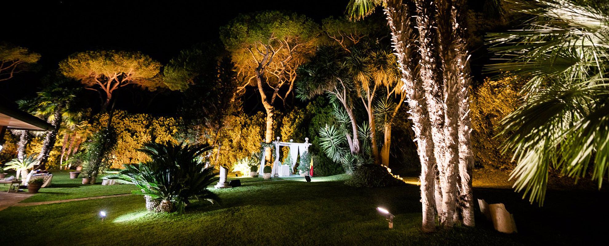 La Villa dei Principi in notturna